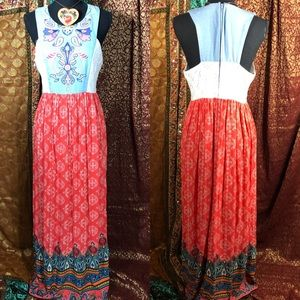 Flying Tomato Embroidered Vintage Inspired Maxi